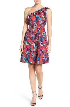 An adorable, flattering floral one-shoulder dress for Spring! (affiliate link)
