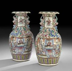Pair of Chinese Porcelain Vases : Lot 50