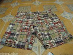 Men's Tommy Hilfiger shorts plaid red $69.50 40W NEW NWT walk casual 7810845 991