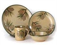Cabin Dinnerware | Rustic Dinnerware - Western Dinnerware - Pottery Dinnerware
