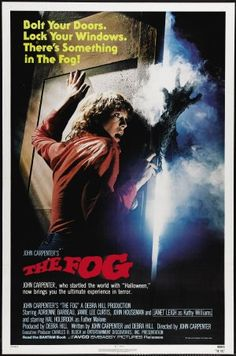 """The Fog (1980)   John Carpenter's 1980 horror film """"The Fog"""" is about passengers on a ship that return from the dead to seek revenge on the relatives of 6 men who tricked them to their death 100 years earlier. Oh, and to find their booty. (beyondhollywood.com)"""