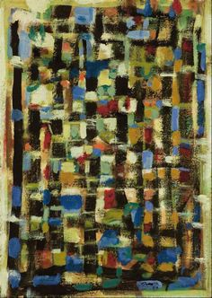 Composition in Blue - 1959 | Roger Bissière | WikiPaintings.org