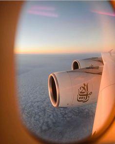 Fly to Dubai. Emirates Flights, Emirates Airline, Emirates A380, Dubai, Airplane Window, Airplane View, Airplane Photography, Travel Photography, Emirates Cabin Crew