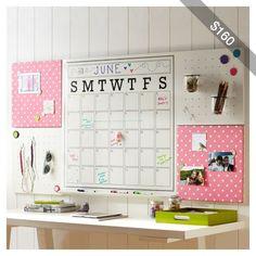 PB Teen 2X4 Pink Dottie Style Tile 2.0 Frameless Set at Pottery Barn Teen - Wall Organization Boards - Style