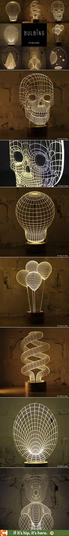 Flat led lamps appear 3D.