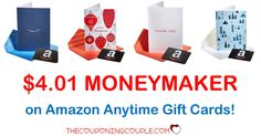 WOOHOO! Get a $4.01 MONEYMAKER when you purchase and load Amazon Anytime Gift Cards! What a great deal!  Click the link below to get all of the details ► http://www.thecouponingcouple.com/amazon-anytime-gift-card/ #Coupons #Couponing #CouponCommunity  Visit us at http://www.thecouponingcouple.com for more great posts!