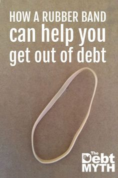 This method is so simple that if I just tell you right out, you'll probably roll your eyes and move on. But you shouldn't miss the rubber band method, because its one of those great little life hacks that can totally help you get out of debt.