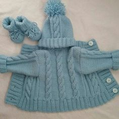Baby Hats Knitting, Baby Knitting Patterns, Baby Patterns, Crochet Baby, Knit Crochet, Homemade Dolls, Baby Coat, Baby Sweaters, Knitwear