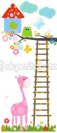 owl and pink giraffe