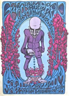The Grateful Dead and Chuck Berry at the Carousel Ballroom in San Francisco. March 29-31, 1968 concert poster