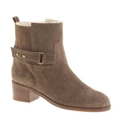 shearling lined ankle boots from JCrew - on sale + 40% off... smart in this polar vortex!