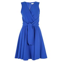 Add some colour to your occasion wear with this flattering Tie Front Skater Dress from Closet. £52, John Lewis.