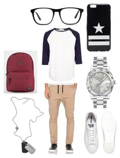 """""""First men fashion set"""" by bruhits-lovefor-fashion on Polyvore featuring River Island, Zanerobe, Converse, Rolex, Diesel, Parkland, Ace, Givenchy, men's fashion and menswear"""