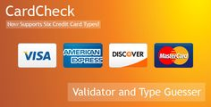 CardCheck is a credit card Validator and Type Guesser. It provides instant feed… CardCheck is a credit card Validator and Type Guesser. It provides instant feedback during credit card number entry. Business Credit Cards, Type, Number