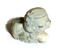 Adorable Vintage Puppy Planter Figurine by PopcornVintageByTann