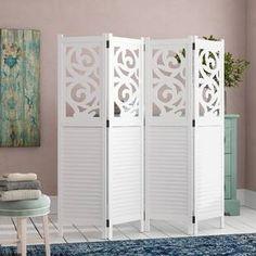 Room divider Jerold, 170 x 161 cm Brambly Cottage color: white Room Interior, Modern Interior, Home Interior Design, Mystery Room, Marble Room, 4 Panel Room Divider, Furniture, Home Decor, Cottage