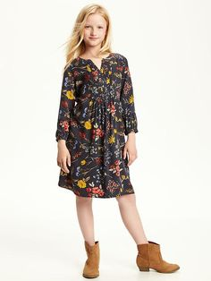 Printed Swing Dress for Girls