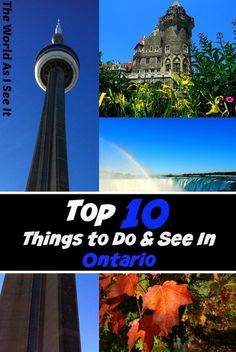 Ontario, Canada is full of incredible cities, awesome attractions, and natural wonders! Check out the top 10 things to do in Ontario! Travel Around The World, Around The Worlds, Ontario California, Canadian Travel, Canadian Rockies, Stuff To Do, Things To Do, Ontario Travel, Travel Inspiration
