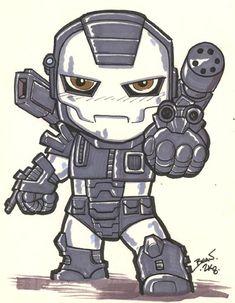 Chibi-War Machine. by hedbonstudios on DeviantArt