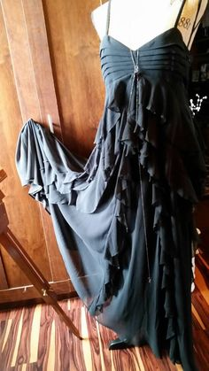 HUGE FESTIVAL SALE ON NOW!! WITCHY RAVEN Gown Gothic Romance Dress French by BadTigerDesigns