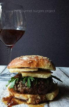 Parmesan & wine burger recipe notes: I had a Brunello di Montalcino bottle opened, so I used this delicious Tuscan wine...