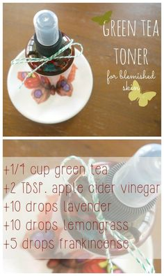 DIY Green Tea Toner for Acne Prone Skin: