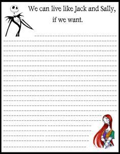 Letter paper | Halloween stationery for print | Pinterest | Jack ...