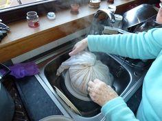 Clootie dumpling out of the pan