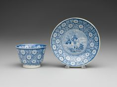 RISD Museum: Enoch Wood and Sons, English, 1818-1846. Cup and Saucer, ca. 1840. Earthenware with transfer-print decoration and glaze. Gift of the Estate of Mrs. Gustav Radeke 31.535