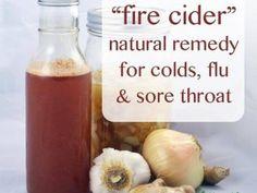 Fogo Cider remédio natural para resfriados, gripes e dores de garganta