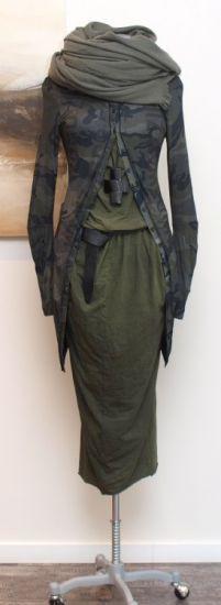 rundholz dip - Kleid Jersey Print frog - Winter 2014 - stilecht - mode für frauen mit format...