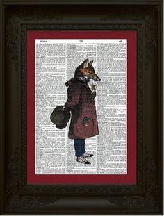 Fox Gentleman Dictionary Art Print