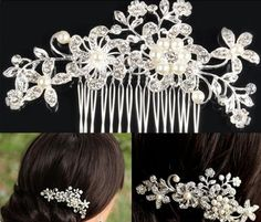 Fashion Bridal Wedding Tiaras Stunning Fine Comb Bridal Jewelry Accessories Crystal Pearl Hair Brush Weddding Jewelry J23 Diamond Hair Accessories Grecian Hair Accessories From Wptvxq5200, $7.7| Dhgate.Com