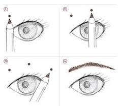 how to draw a realistic eyebrow