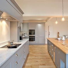 The first major project was a single storey rear extension to create an open plan family room. It was finished at the end of last year so I… Open Plan Kitchen Dining Living, Living Room Kitchen, Home Decor Kitchen, Kitchen Interior, New Kitchen, Home Kitchens, Small Kitchen Diner, Kitchen Diner Extension, Shaker Kitchen