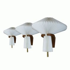 Le Klint sconces with mushroom shape - Galerie Andre Hayat