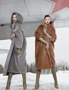 Max Mara coats. Love both, especially the grey with hoodie