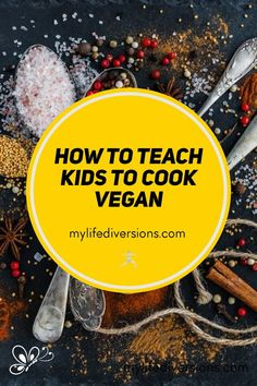 Teaching your kids to cook vegan is a great family activity to keep your kids busy. Especially at a time like this when you're safely tucked in at home during quarantine because of the Corona Virus. Take advantage of this time to teach your kids some new skills, that will benefit them, and you as well! Most kids today don't know how to cook. You will find a list of different skills to learn, and easy vegan meals and desserts to start off with. #BeginnerCookingClass Vegan Recipes Easy, Whole Food Recipes, Vegan Meals, Best Vegan Cheese, Tacos And Salsa, How To Teach Kids, Cooking For Beginners, Chocolate Chip Oatmeal, Vegan Baking