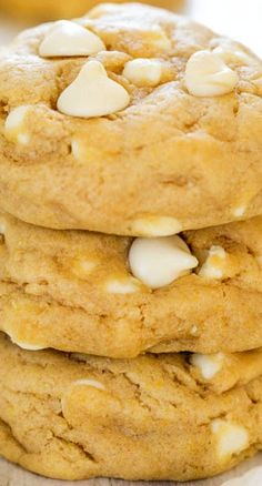 Soft and Chewy White Chocolate Cream Cheese Cookies