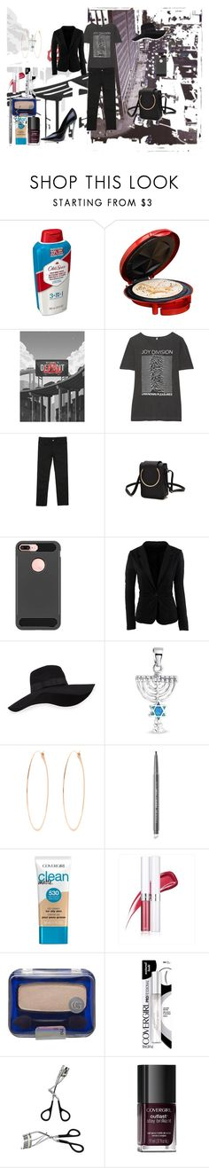 """Dress Up a T-Shirt ( an entry into a group contest)"" by naomig-dix ❤ liked on Polyvore featuring Old Spice, Elite by Maxi-Matic, R13, Chlo.D.Manon, WithChic, San Diego Hat Co., Bling Jewelry, Melissa Joy Manning, COVERGIRL and Nemesis"