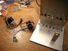 Mick Feuerbacher Audio Projects Electronics Components, Diy Electronics, Black Magic Book, Electronic Schematics, Stereo Amplifier, Pedalboard, High Voltage, Circuits, Audiophile