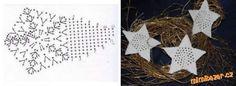 Našla som na internete. Pekná ako dekorácia k vianociam...<br>Vo väčšom fotmáte to nemám :(<br>Návod... Crochet Diagram, Crochet Motif, Diy Crochet, Crochet Appliques, Christmas Crochet Patterns, Crochet Christmas, Crochet Stars, Crochet Winter, Christmas Time
