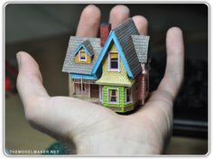 Tiny tiny papercraft house.