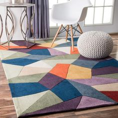 Shop for nuLOOM Contemporary Handmade Geometric Multi Rug (7'6 x 9'6). Get free shipping at Overstock.com - Your Online Home Decor Outlet Store! Get 5% in rewards with Club O!