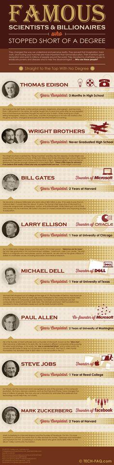 No hace falta carrera para cambiar el Mundo #infografia #infographic #education