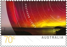 The Southern Lights ( Aurora Australis ), best seen from the islands of the Southern Ocean and Antarctica. In Australia, they are occasionally observed in the southern skies of Tasmania, and sometimes from southern locales on the mainland. Unique Animals, Great Barrier Reef, Stamp Collecting, Postage Stamps, Southern, Lights, August 2014, Antarctica, Tasmania