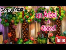Como hacer un Arco Romántico con Globos y Flores - DIY How to make a romantic balloon arch - YouTube