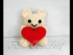 Crochet Amigurumi Bear (pt1) A beautiful, little bear that could make a great Valentine's Day gift!!!