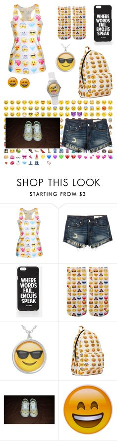 """Emoji"" by samy-101 ❤ liked on Polyvore featuring interior, interiors, interior design, home, home decor, interior decorating, rag & bone/JEAN and Jac Vanek"