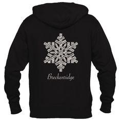 Breckenridge, Colorado Snowflake - Men's Full-Zip Hooded Sweatshirt/Hoodie
